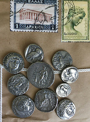 ⭐️ 10 Ancient Greek Coins - Treasure, Coins, Artifacts, Zeus, Athena