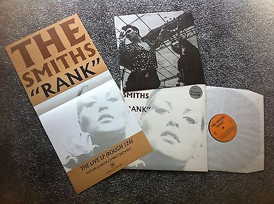 "The Smiths - ""RANK"" LP Original ROUGH126L With Promo Poster Morrissey"