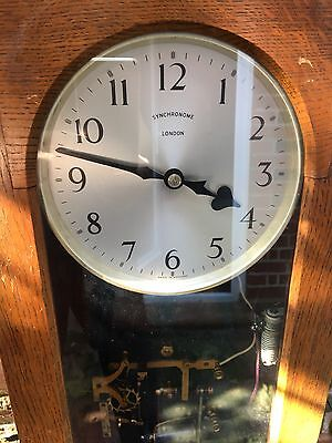 Synchronome Electric Oak Factory Master Clock in Working Condition