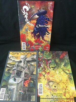 Sandman Overture #1A Variant & # 2-3JH Williams Neil Gaiman Death Vertigo  VF/NM