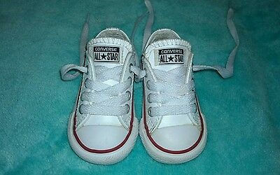 Baby leather Converse trainers size UK 3 infant