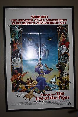 Sinbad And The Eye Of The Tiger- Ray Harryhausen Autographed- Original One Sheet