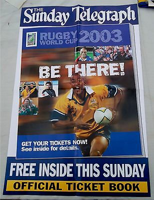 Rugby League World Cup 2003 Australia Newstand Promotion Poster Rare