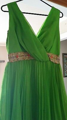 Vintage Women's Homemade lime green  2 Piece Pant Suit