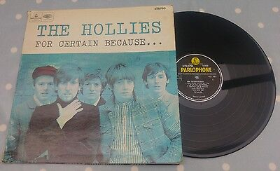 The Hollies - For Certain Because - FIRST UK PRESSING - vinyl LP