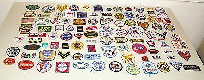 Lot of 100 Vintage Embroidered Patches - Lot 1