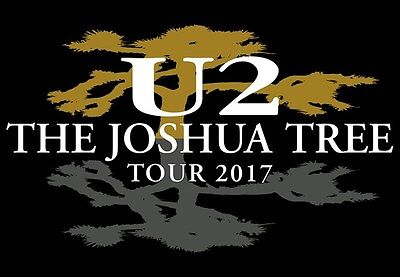 U2 TOUR 2017 TICKETS - July 9th - London - Lower SEATING - Beside Stage Sect. L5