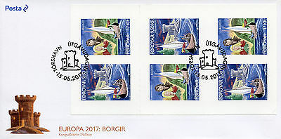 Faroes Faroe Islands 2017 FDC Castles Europa 6v S/A Booklet Cover Ships Stamps