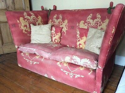Antique knole drop ends sofa settee