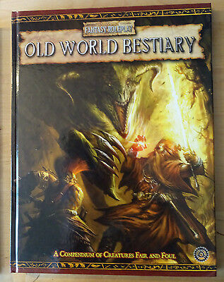 Old World Bestiary Wfrp Games Workshop Warhammer Fantasy Role-Play Book