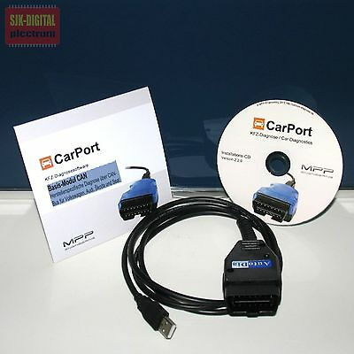 OBD CAN-BUS UDS Diagnose Gerät für VW AUDI SEAT SKODA + CarPort Software Vollv.