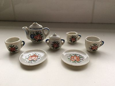Miniature Tea Set - 2 Cups & Saucers, Teapot, Milk Jug & Sugar Bowl with Lid