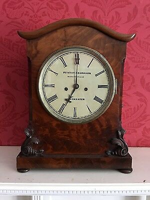 Antique Mahogany Twin Chain Fusee Gong Striking Bracket Clock Bunyan & Gardner