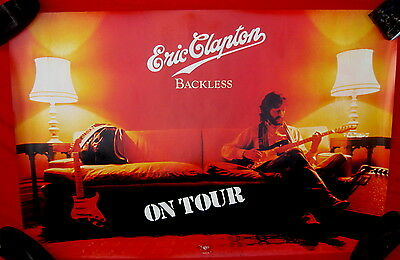 Eric Clapton 1978 poster Backless mint condition