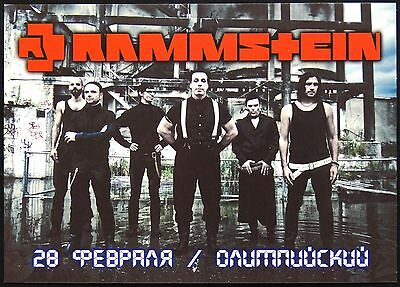700003 VERY RARE! Concert in Moscow 2010 RAMMSTEIN Russian Advertising postcard