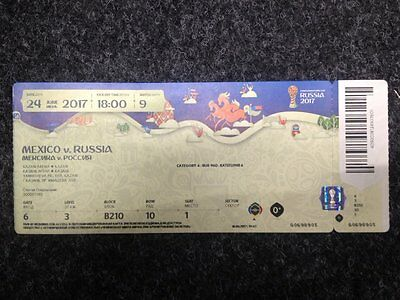 Russia - Mexico 24/06/2017 FIFA Confederations Cup used ticket