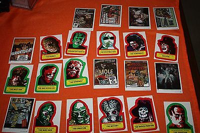 1980 Topps Creature Feature Trading Card Sticker Set - 22 Stickers