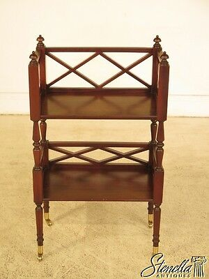 28943E: Mahogany Lightly Distressed Open Book Shelf