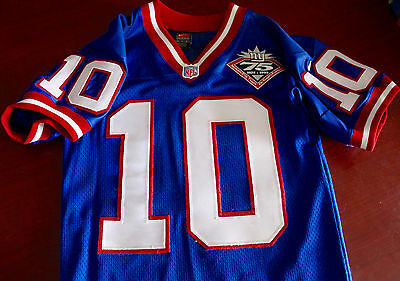 NEW YORK GIANTS - Game issued authentic football jersey - 1999 HOME blue jersey
