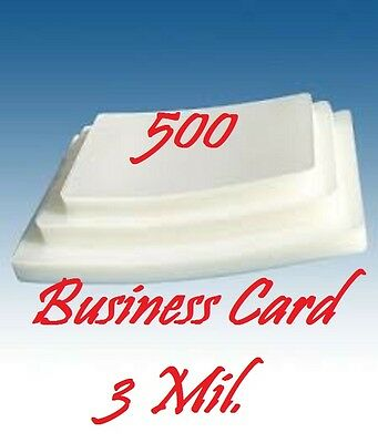 3 MIL Business Card Laminating Laminator Pouches/Sheets 2-1/4 x 3-3/4 (500)