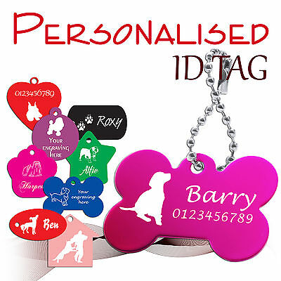 Personalised engraved ID TAG * pet * dog * cat * identity tags * 10 colours