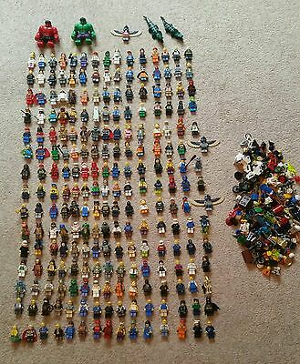230 Lego Minifigures star wars, marvel, etc + lots spares