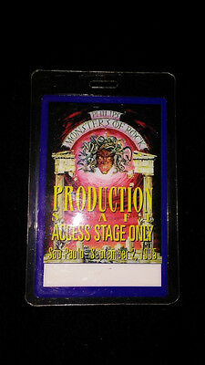 Monsters of Rock Production Staff Stage Only Sept. 2 1995 OTTO Laminate Pass