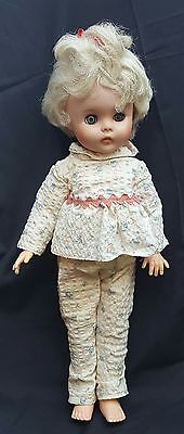 Vintage EeGee Baby Doll with outfit clothes blonde hair eyes open and close