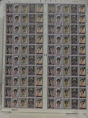 Gb Postage Stamps Diana Princess Of Wales Mint Sheet