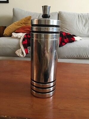 Free Shipping: Vintage Chase Gaiety Art Deco Chrome Cocktail Shaker