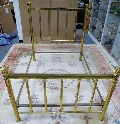 Antique Victorian Greenpoint Quality Bedsteads Full Size Brass Bed w/ ... Lot 89