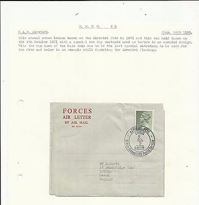 Cyprus 1971 Akrotiri fete cover   written up