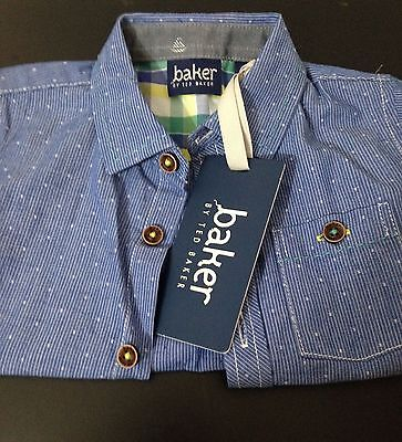 NWT~Ted Baker~ Baby Boys Short Sleeve Down Shirt Size: 3-6 mons