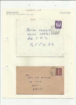 Cyprus 1961 FPO 246 covers x 2   written up