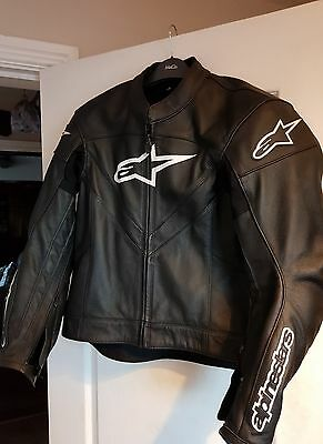 mens alpinestars leather jacket size euro 52