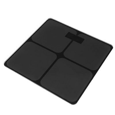 Digital Bathroom Body Fat Tempered Glass Electronic Weight Scale Black