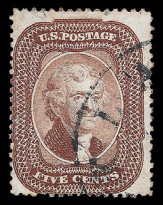 WCstamps: U.S. Scott #29 / $375 - 5c Brown Type I, Used, Fine
