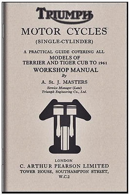 Triumph Tiger Cub, 1961 Motorcycle Manual, A. St. J. Masters included