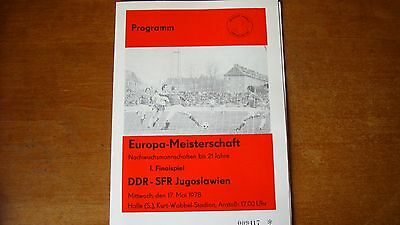 DDR U21 V YUGOSLAVIA U21 MAY 1978 (Final)