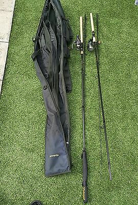 browning and wychwood carp rods with reels,bag included,used,excellent condition