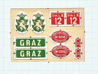 "Messingschilder StLB 12 ""GRAZ"""