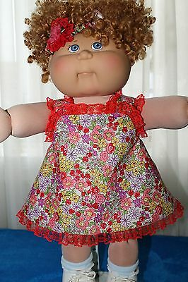 Cabbage Patch Doll Cloths- Girls - Sundress -Panties-Hair band - 16""