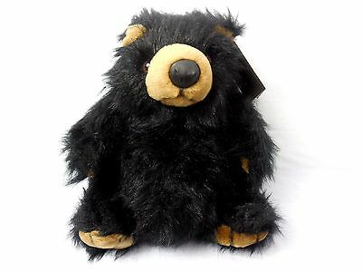 "Fancy Zoo Black Pot Belly Teddy Bear 11"" x 11"" Stuffed Animal Plush Toy China"