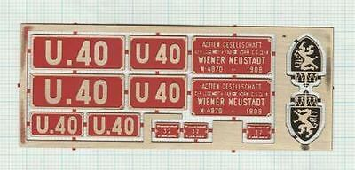 Messingschilder U40