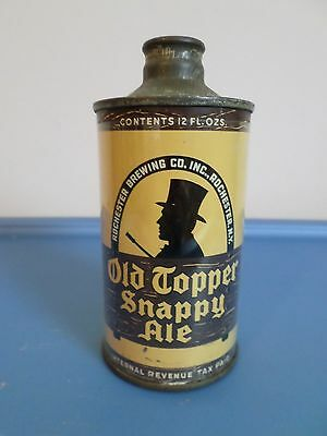 Vintage Old Topper Snappy Ale IRTP Rochester Brewing Cone Top Beer Can GB