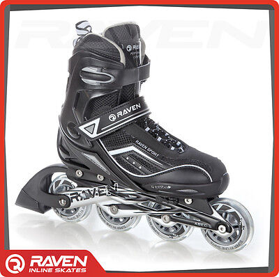 ADJUSTABLE INLINE SKATES Various SIZES for Kids and Adults Raven Roller Blades