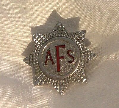 WWII Auxiliary Fire Service Badge  - Home Front