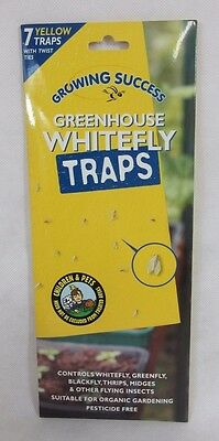 Growing Success Greenhouse Whitefly Traps - Single Pack of 7 Traps (792T)