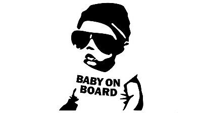 """BABY ON BOARD Magnet 5/""""x5/"""" Made in the USA Buy 2 Get 3rd FREE"""