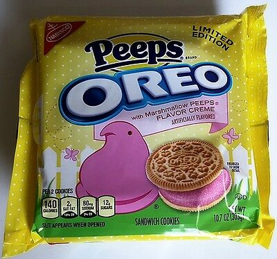NEW Nabisco Oreo Peeps Marshmallow Flavor Creme Cookies FREE WORLDWIDE SHIPPING